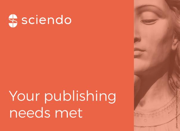 Przechodzimy na stronę Sciendo. Otwiera się w nowej karcie.