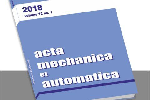 okładka casopisma Acta Mechanica et Automatica