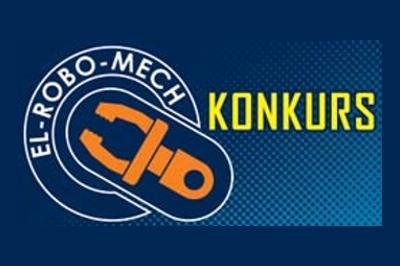 Logo konkursu EL-ROBO-MECH oraz napis Konkurs