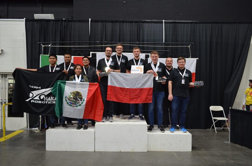 Robogames 2018 - zespół SumoMaster z WM PB na podium