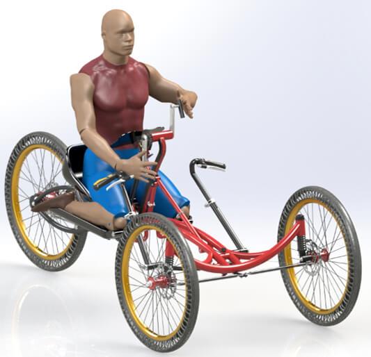 Projekt sportowego wózka inwalidzkiego