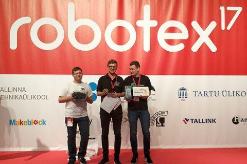 SumoMaster na zawodach Robotex 2017