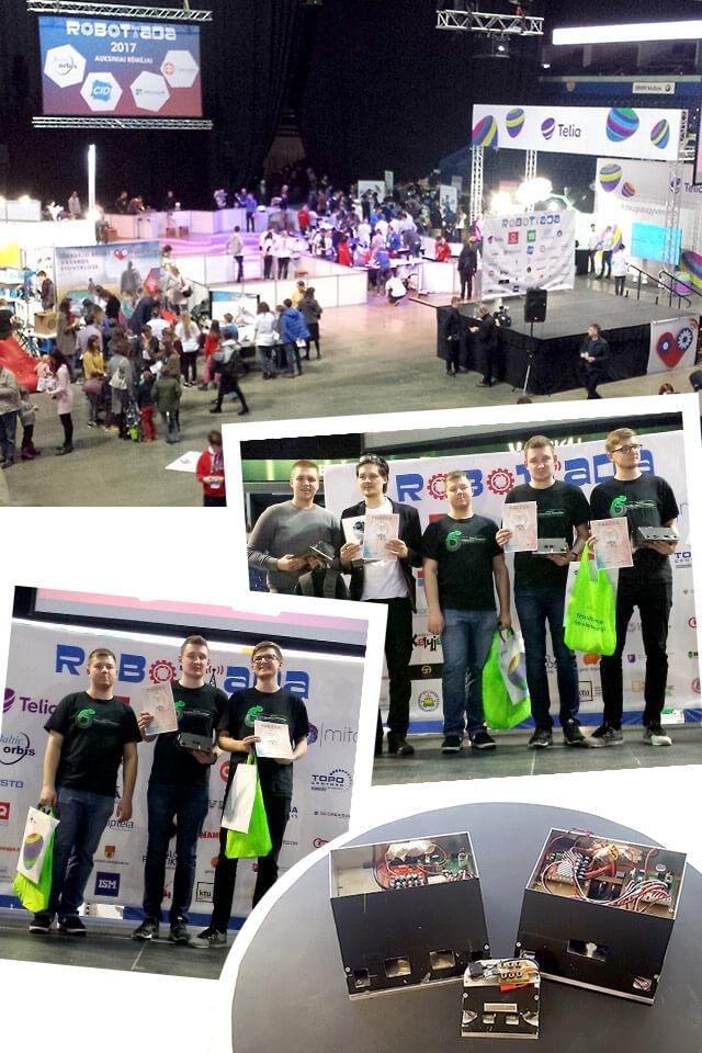 Zespół SumoMasters na zawodach Robotiada 2017 - galeria