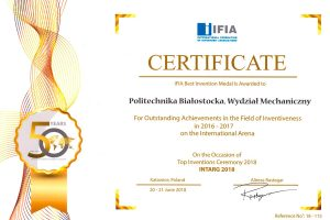 Certyfikat INTARG 2018