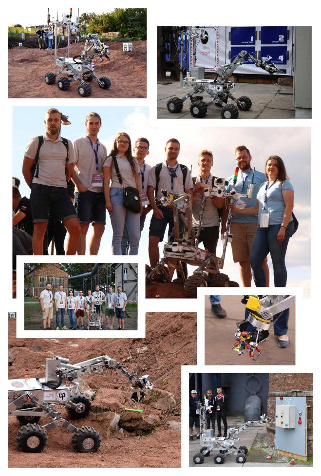 studenci WM PB na zawodach European Rover Challenge 2018