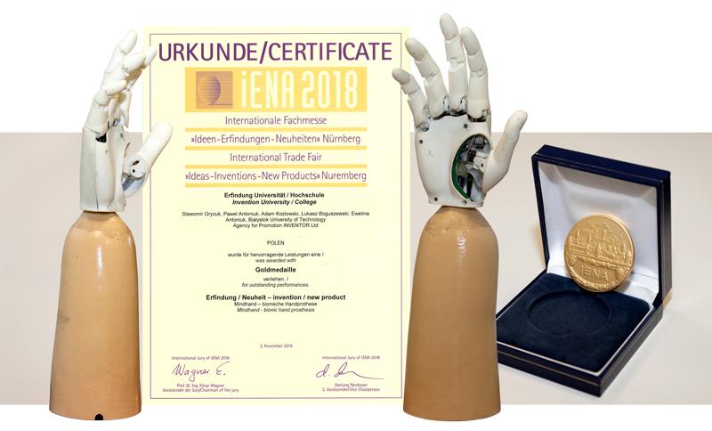 Nagroda za projekt protezy MindHand