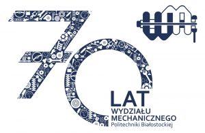 Logotyp wydarzenia 70 lat Wydziału Mechanicznego