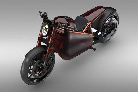 Projekt motocykla elektrycznego autorstwa Mateusza Kuprianiuka