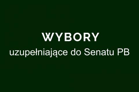 wybory uzupełniające do Senatu PB