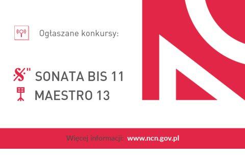 Grafika dotycząca konkursu MAESTRO 13 i SONATA BIS 11
