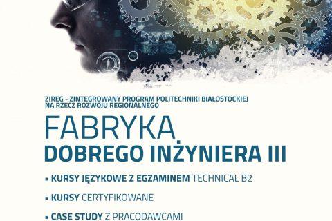 Plakat promujący rekrutacje do Fabryki Dobrego Inżyniera III